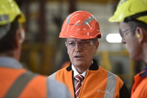 Bill Shorten tours the One steel factory in Adelaide