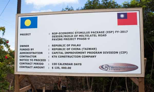 The islands of Palau are dotted with signs showing projects funded by Taiwanese aid.