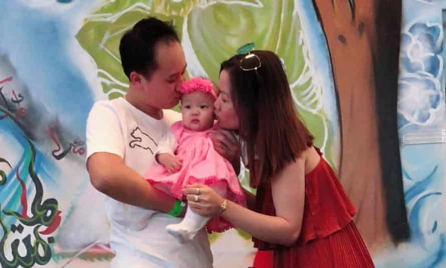 Huyen Tran with her husband Paul and their daughter Isabella