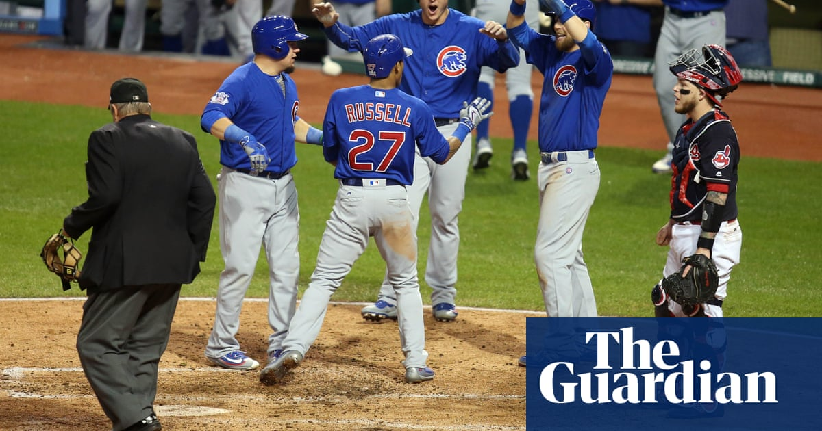 new style bff93 0a379 Cubs crush Indians to set up historic World Series final