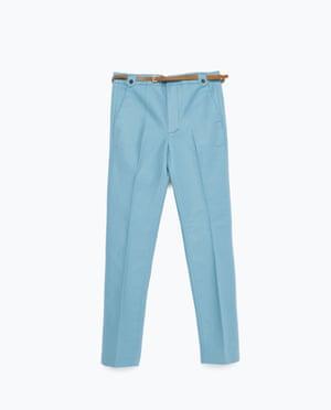 blue trousers £25.99, Zara