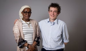 Paulette Wilson with her caseworker, Daniel Ashwell, from the Refugee and Migrant Centre.