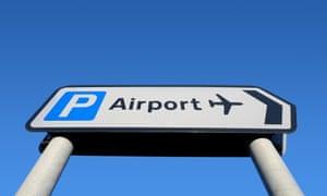 an airport car parking sign