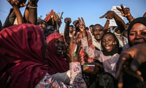 Protesters at a sit-in outside the army headquarters in Khartoum on Tuesday.