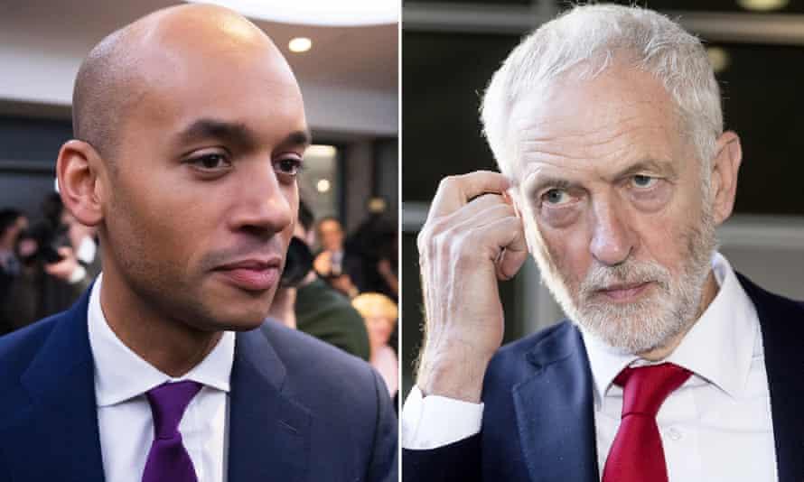 Chuka Umunna and Jeremy Corbyn