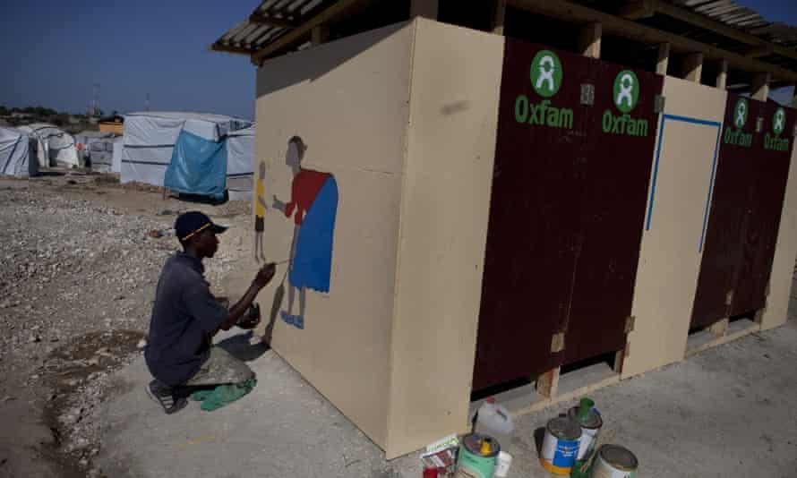 Oxfam sanitation project in Port-au-Prince, Haiti.