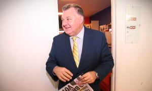 Liberal party MP Craig Kelly in the press gallery at federal parliament.