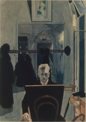 Self-portrait (with drawing board), 1907 by Léon Spilliaert.