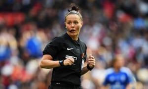 Rebecca Welch, England's highest-ranked female referee, during the 2017 Women's FA Cup final.