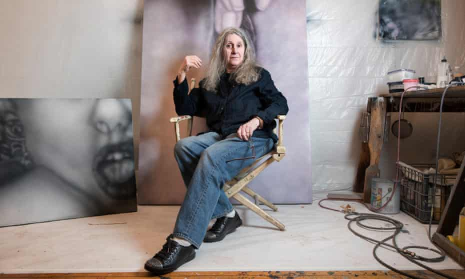 'I looked at my husband's collection and said: That would make a great painting' … Tompkins in her SoHo studio.