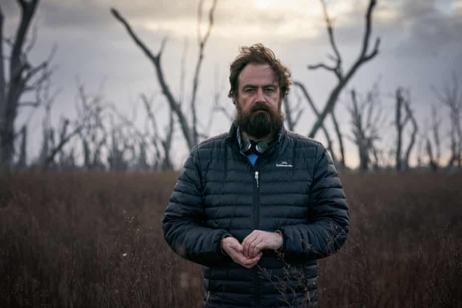Director Justin Kurzel on the set of True History of the Kelly Gang
