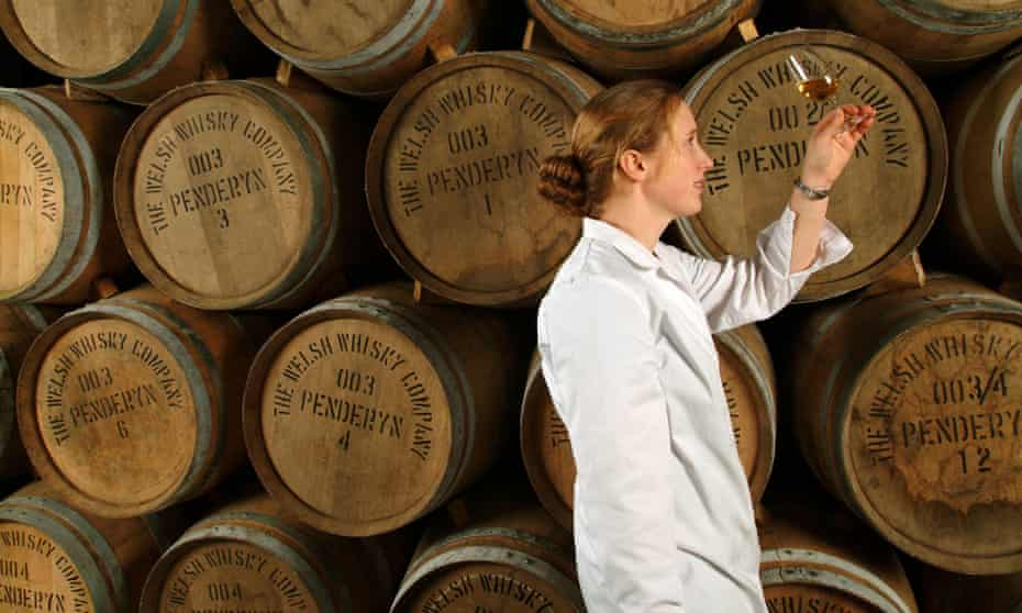 Gillian Macdonald at the Penderyn distillery in 2003 before her move to Glenmorangie.