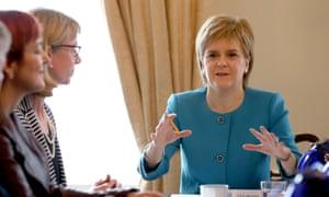 Nicola Sturgeon chairs an emergency xabinet meeting at Bute House in Edinburgh