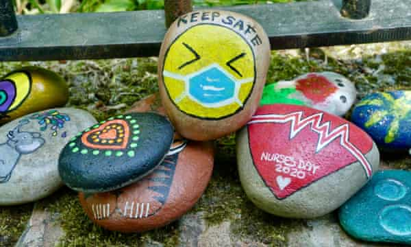 Painted stones, Wantage, Oxfordshire.