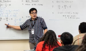 Alan Celeridad teaches math at Vista Grande high school in Casa Grande. The need for mathematics, science, and special education teachers is especially dire in poor and rural schools.
