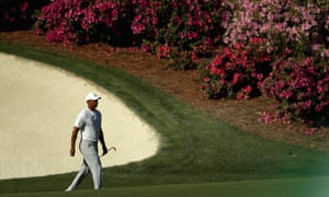 Tiger Woods during a practice round for the Masters at Augusta National.