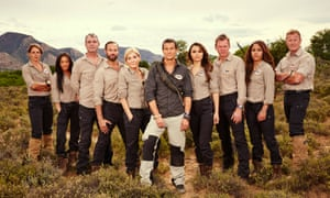Bear Grylls and contestants