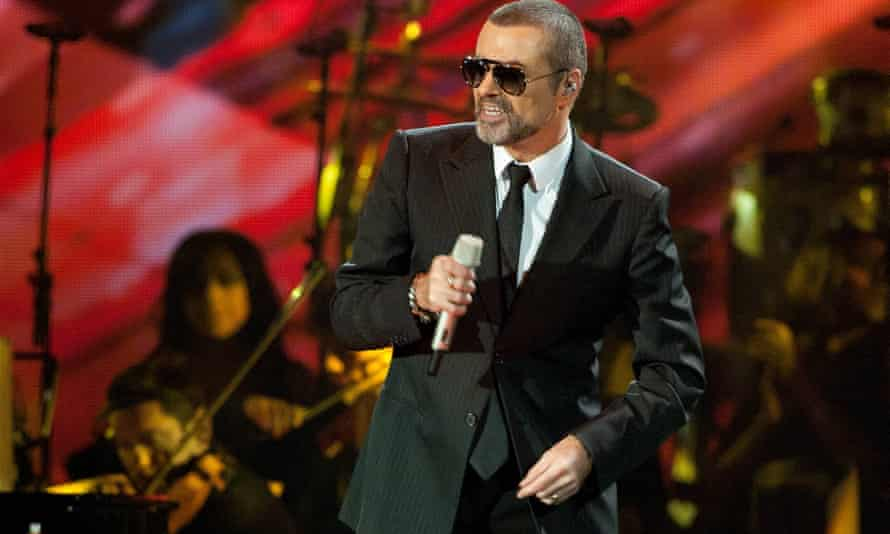 George Michael on stage in Germany.