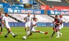 Pablo Hernández sinks Swansea to put Leeds on verge of Premier League