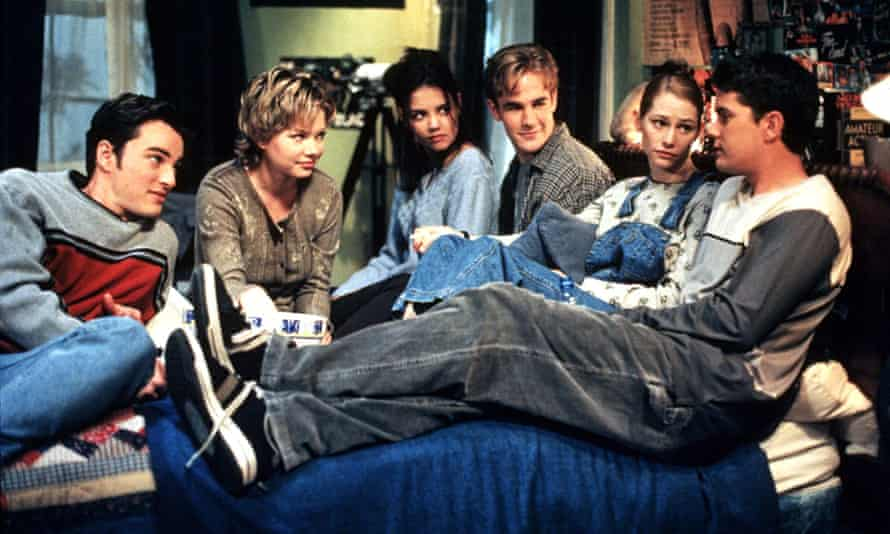 Jackson, right, as Pacey in Dawson's Creek.