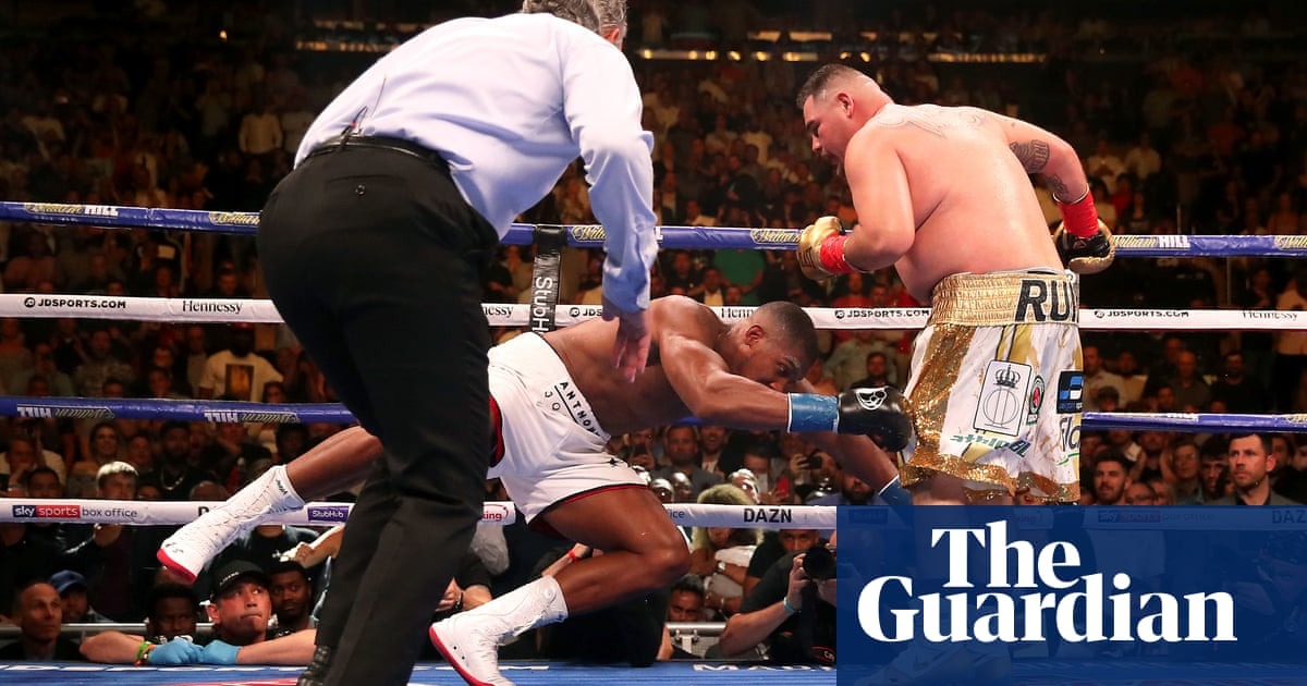 Andy Ruiz Jr shocks world with knockout of Anthony Joshua for heavyweight title