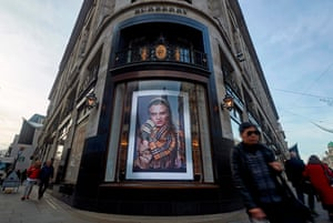 The Burberry branch in Regent Street, central London.