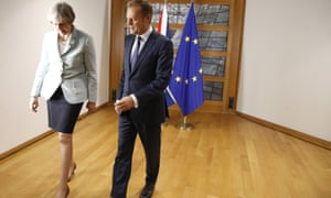Theresa May with Donald Tusk in Brussels, just weeks before EU leaders decide if sufficient progress has been made to allow Brexit talks to move on from the opening issues.