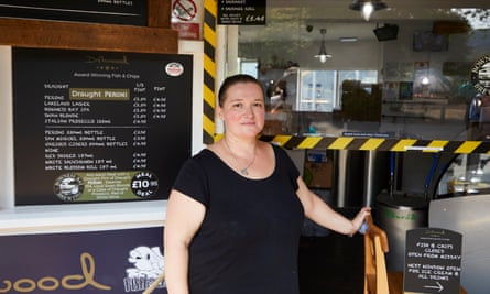 Joanna Biernat, manager at Driftwood fish and chip cafe in Windermere
