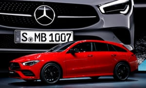 The Mercedes-Benz CLA Shooting Brake, with a 220bhp two-litre petrol engine.