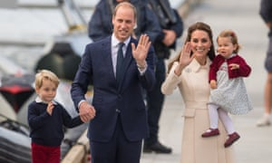 The Duke and Duchess of Cambridge with their children Prince George and Princess Charlotte.