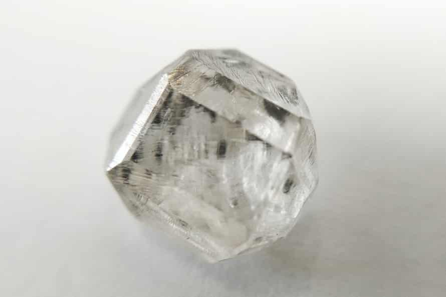 A lab grown solitaire diamond.