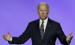 Joe Biden speaks in Washington on Friday.