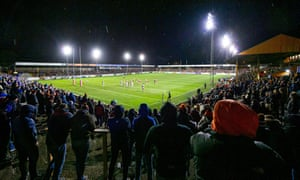 Castleford in action against Wakefield in February – the two clubs are closely associated with their surrounding communities.