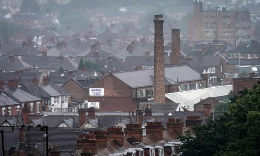 The roofs of homes and factories in Leicester's North Evington and Spinney Hills neighbourhood as the city experiences its second coronavirus lockdown.