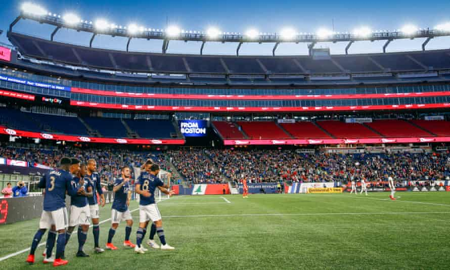 New England Revolution average around 12,000 fans a game in a stadium that seats 65,000 for NFL games