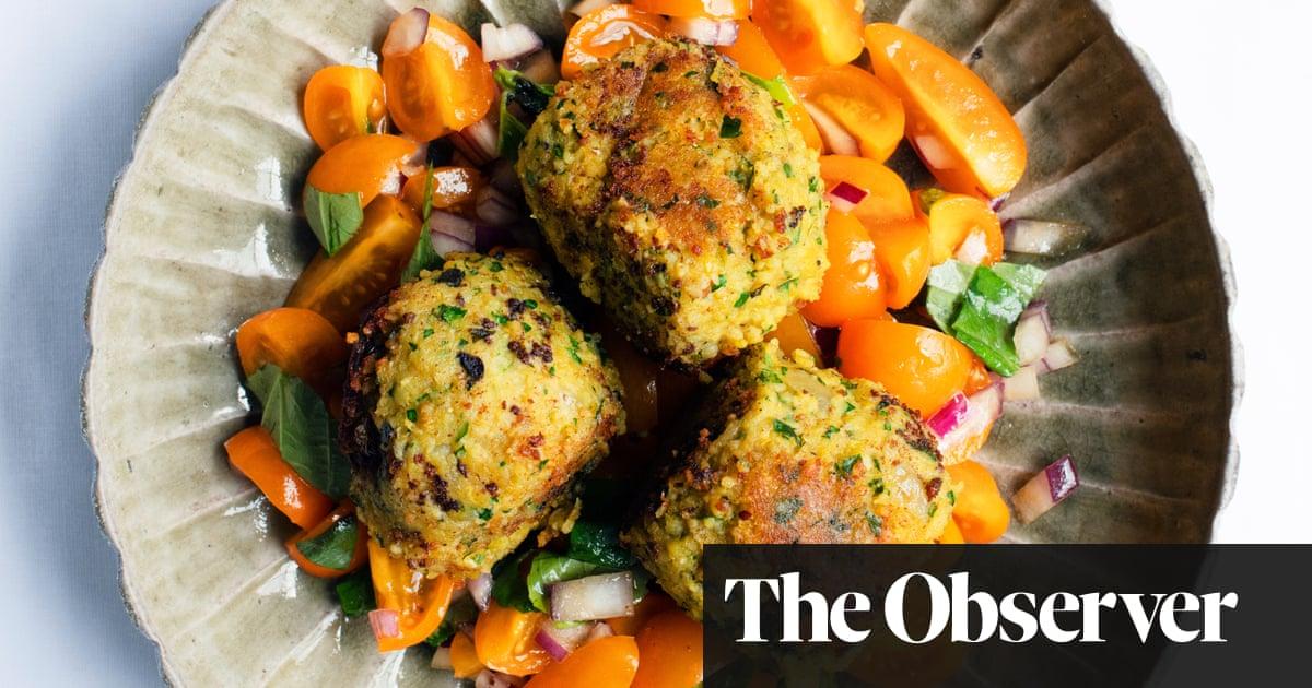 Nigel Slater's recipe for lentil and bulgur wheat cakes