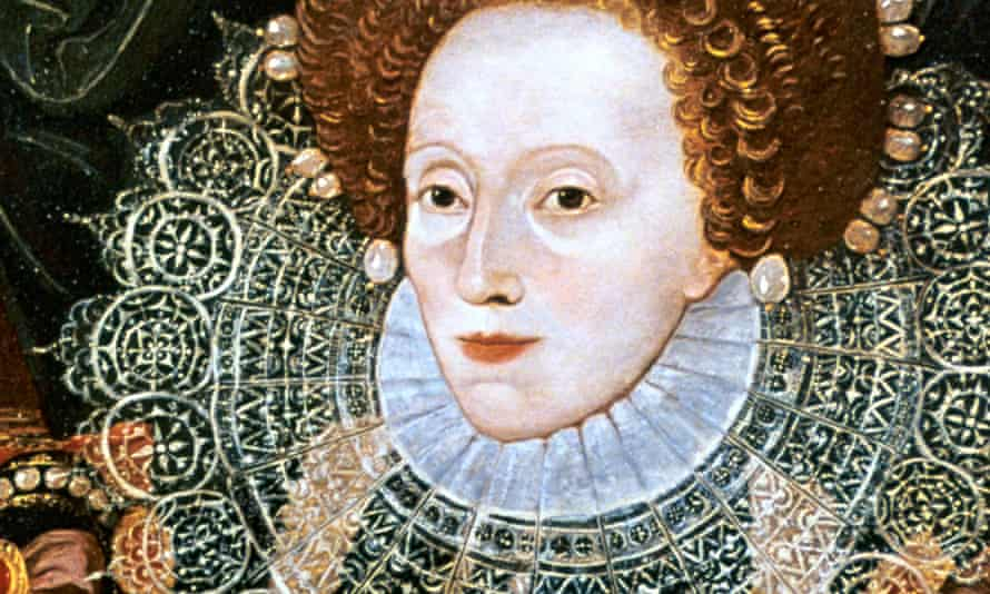 Impressive sang-froid … from a portrait of Elizabeth I attributed to George Gower.
