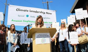The group Amazon Employees for Climate Justice is urging the company to take action on the climate crisis.