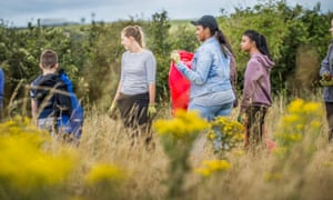Young people take part in the Penpoint project in the Brecon Beacons