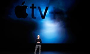 Tim Cook, CEO of Apple, speaks during an Apple special event at the Steve Jobs theatre in Cupertino.