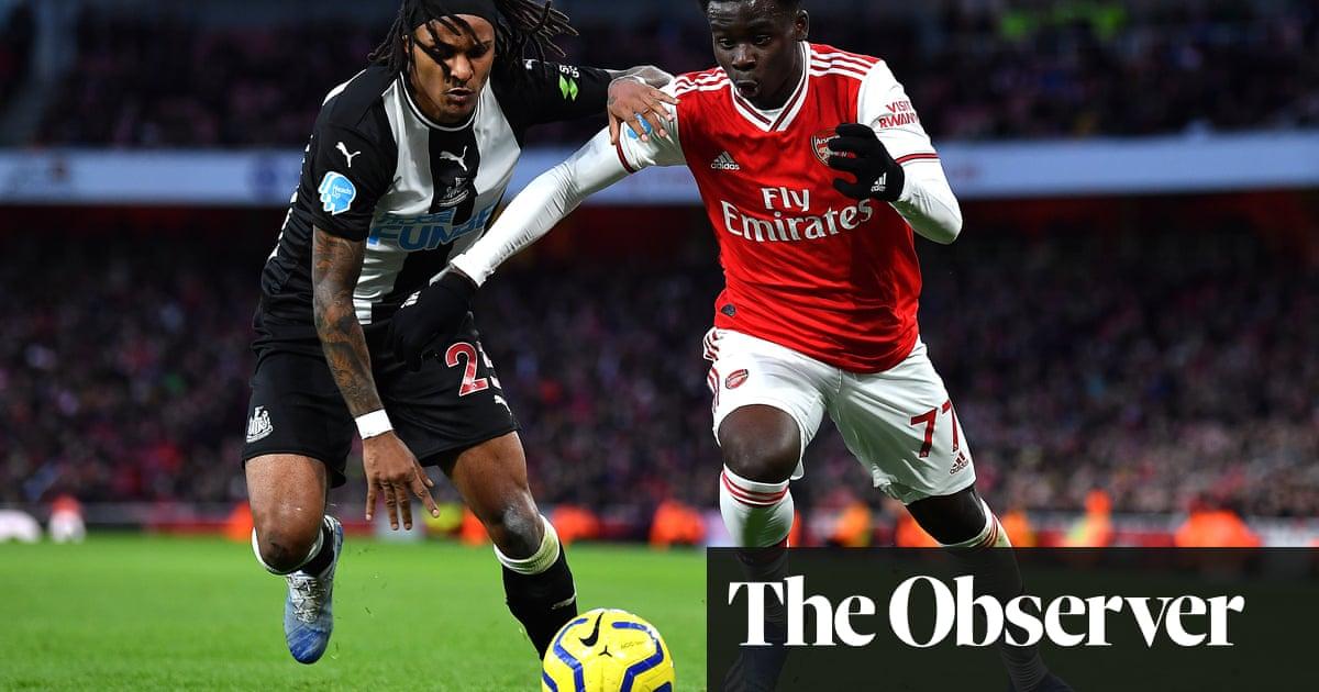 Arsenal's Bukayo Saka is reluctantly making a big impression at the back