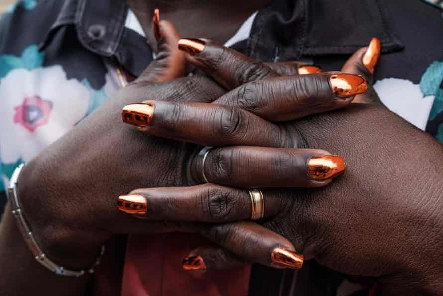 A member of the LGBTQ community poses for a picture prior the Transgender day of Remembrance in order to pay tributes to victims of hate crimes in Uganda and all over the world in Kampala, Uganda