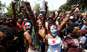 Activists staged a protest supporting West Papua's call for independence from Indonesia on 22 August.