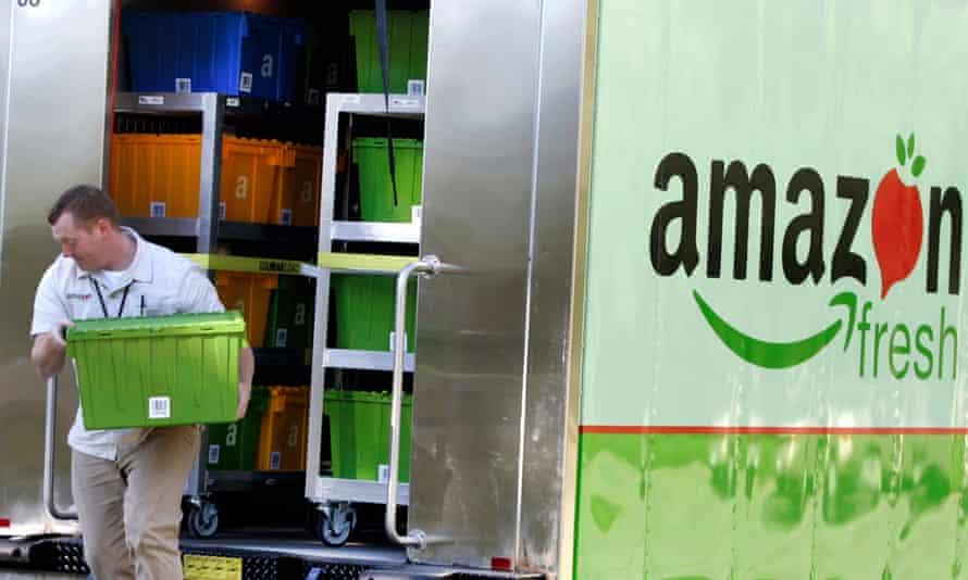 Amazon Fresh lorry