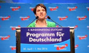 Frauke Petry at podium
