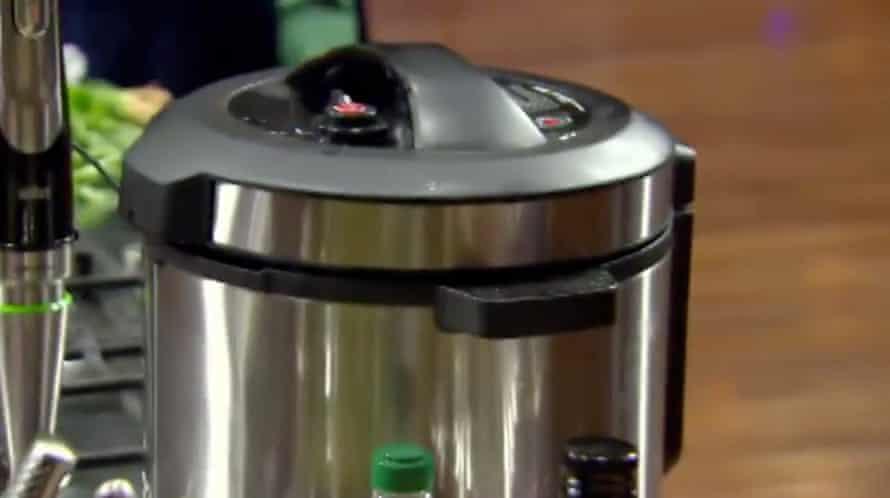 Pressure cooker in a still from MasterChef Australia