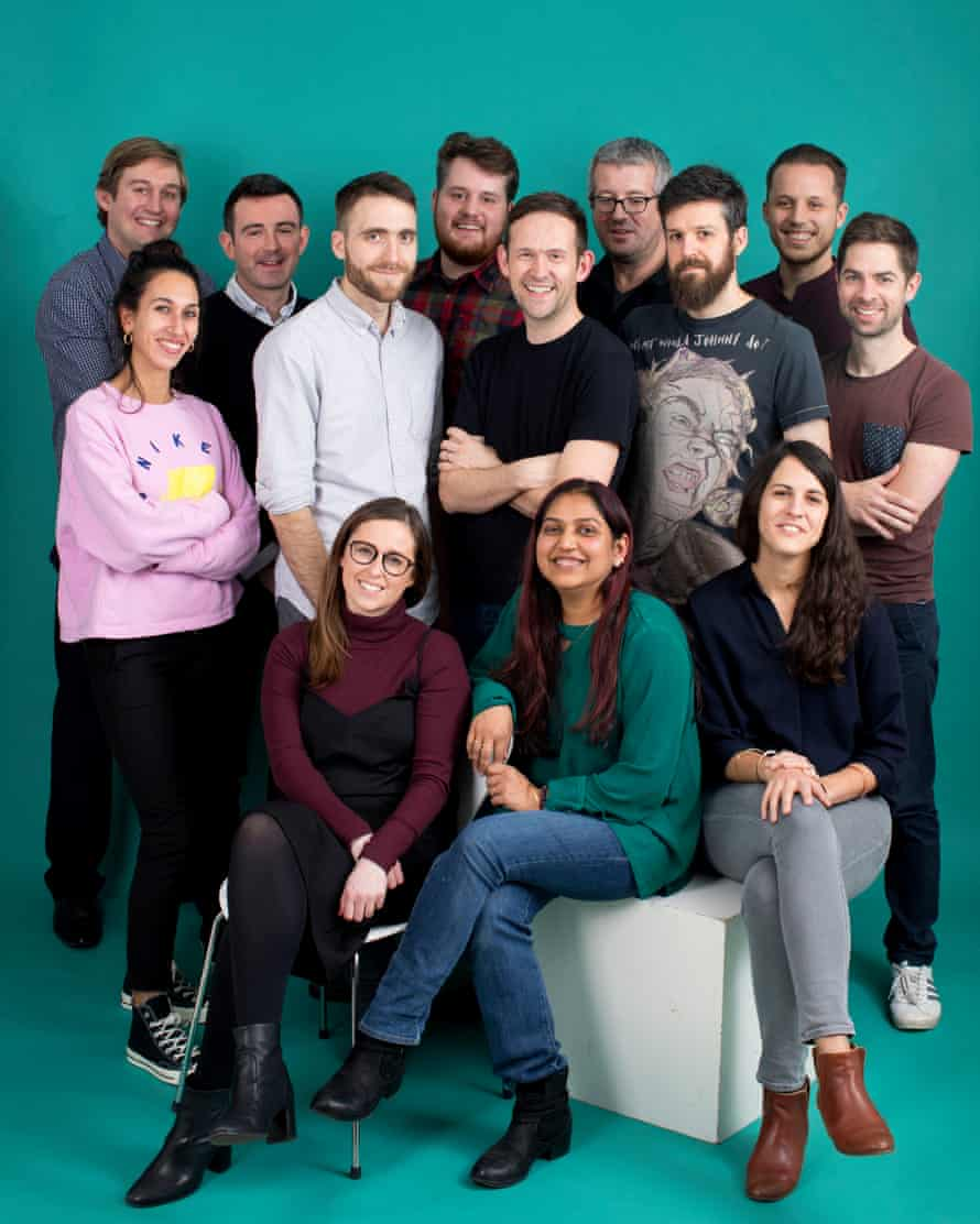 The team behind the new Daily edition app. Photographed 21 November 2019.