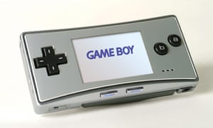 Game Boy Micro (2005) Recalling Nintendo's very earliest handheld, the red-and-gold Game and Watch, the Game Boy Micro is beautifully minimalist, just 4 inches wide, with a a bright, backlit screen. Its Start and Select buttons glow blue and red. It is made of aluminium a decision taken, said designer Kenichi Sugino, to make people want to touch it. One particularly desirable variation was themed after Nintendo's first Famicom console - in red and gold.