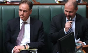 The health minister, Greg Hunt, and the environment and energy minister, Josh Frydenberg, during question time on Thursday.