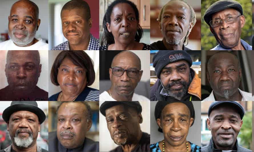 Some of the people whose lives were damaged by the Windrush scandal.